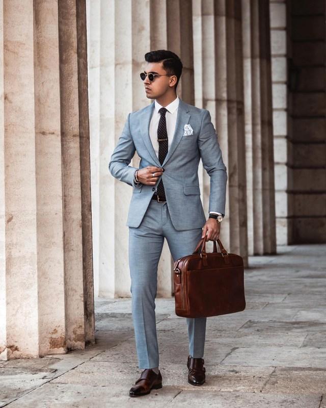 Costume azul masculino
