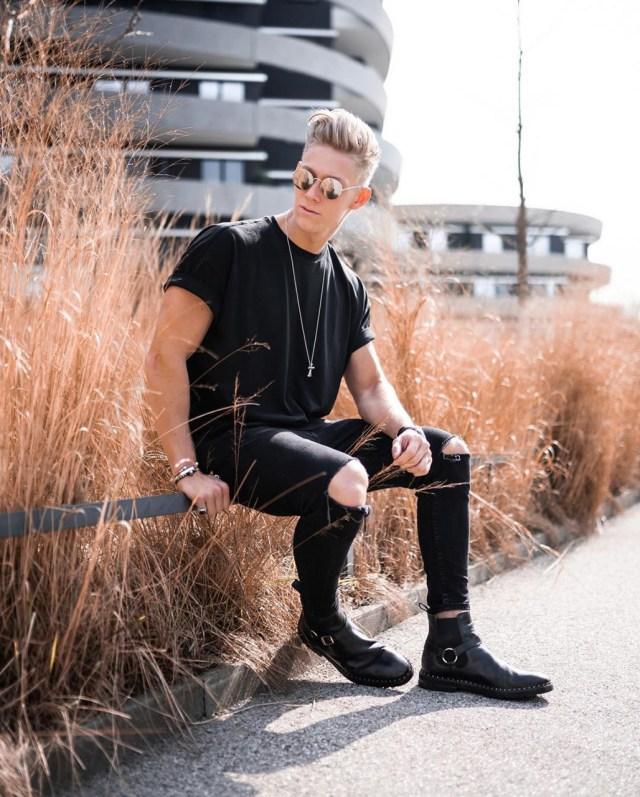 Look masculino all black todo preto