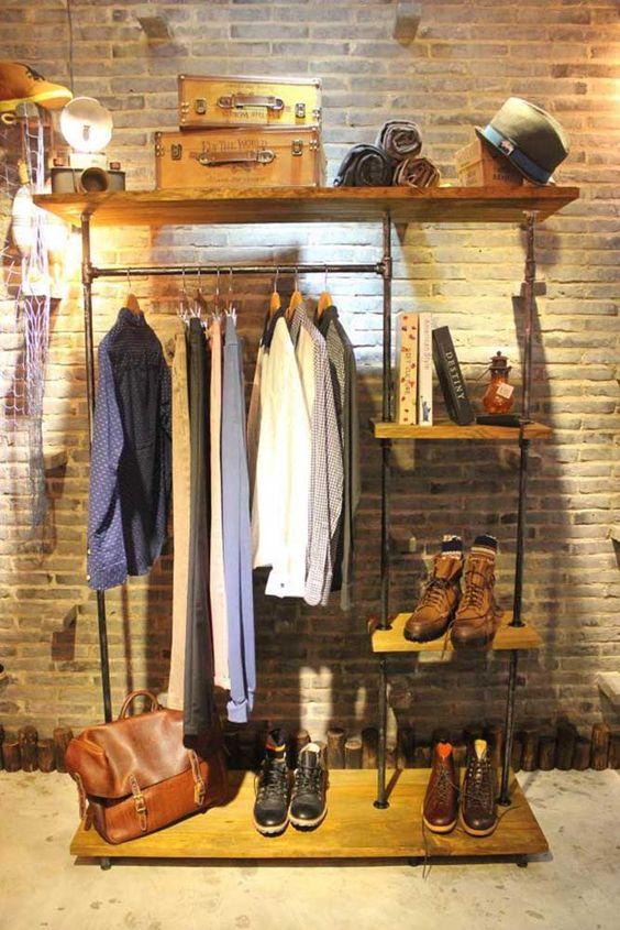 Guarda-roupa minimalista para homens