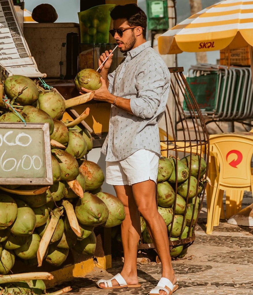 Moda masculina: outfit casual com camisa