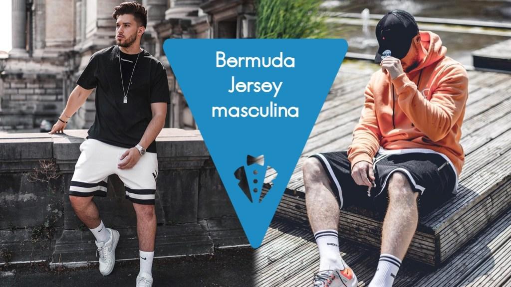 Tendência de moda masculina: bermuda Jersey