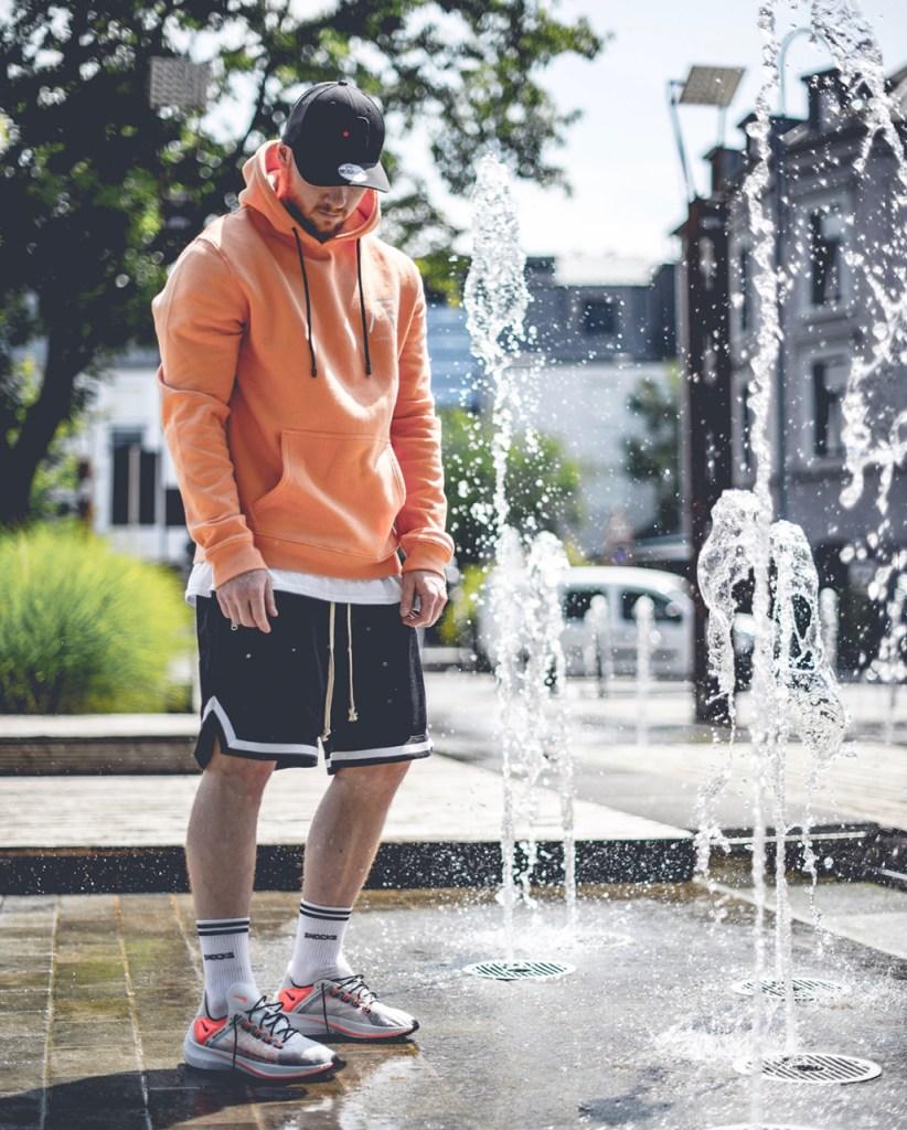 Look masculino de outono com shorts