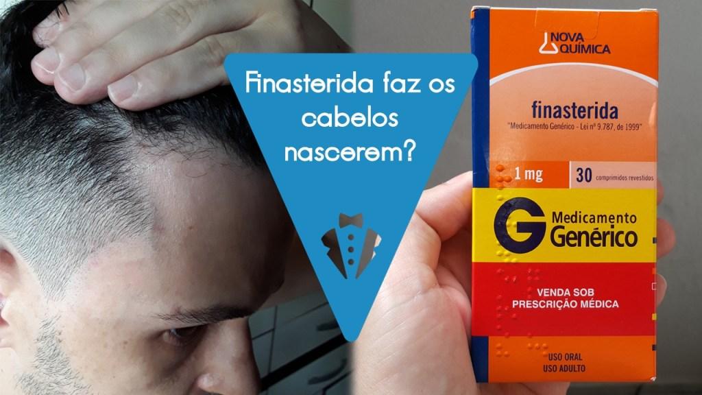 Finasterida faz nascer cabelo em homens