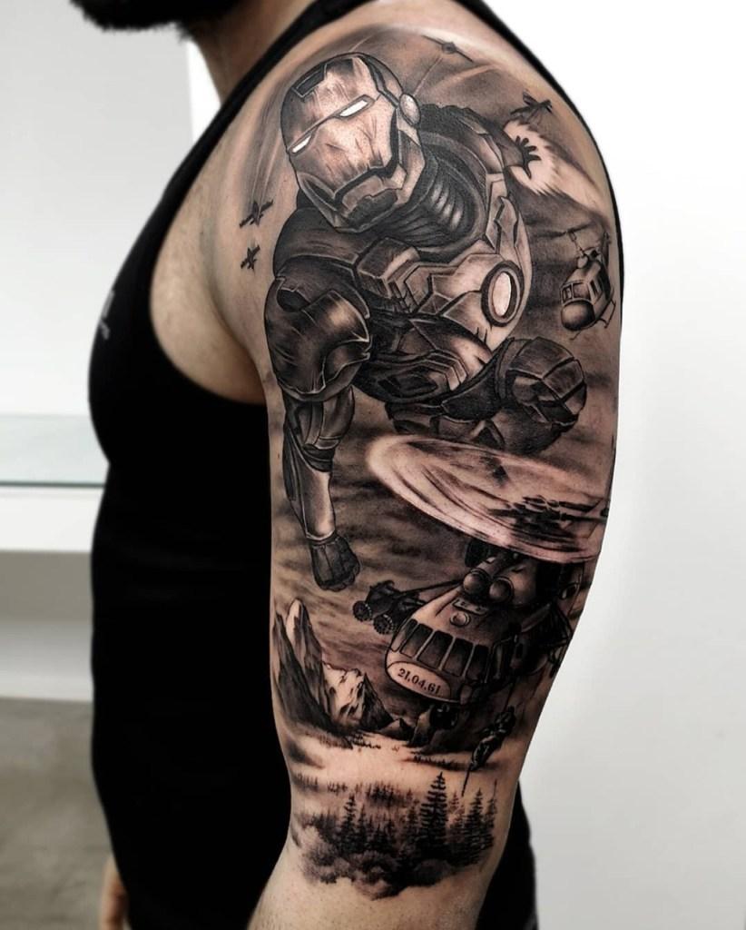 Tattoo do Homem de Ferro