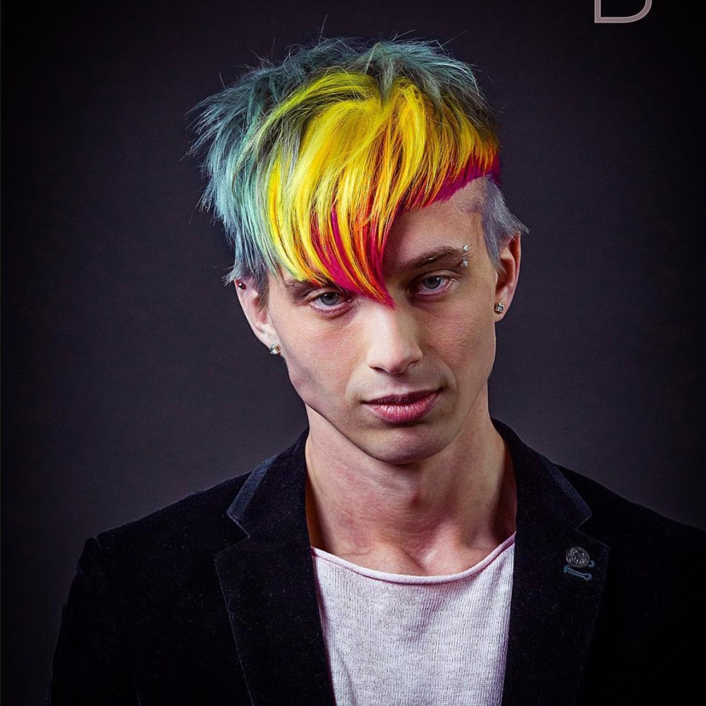 Colored hair for men