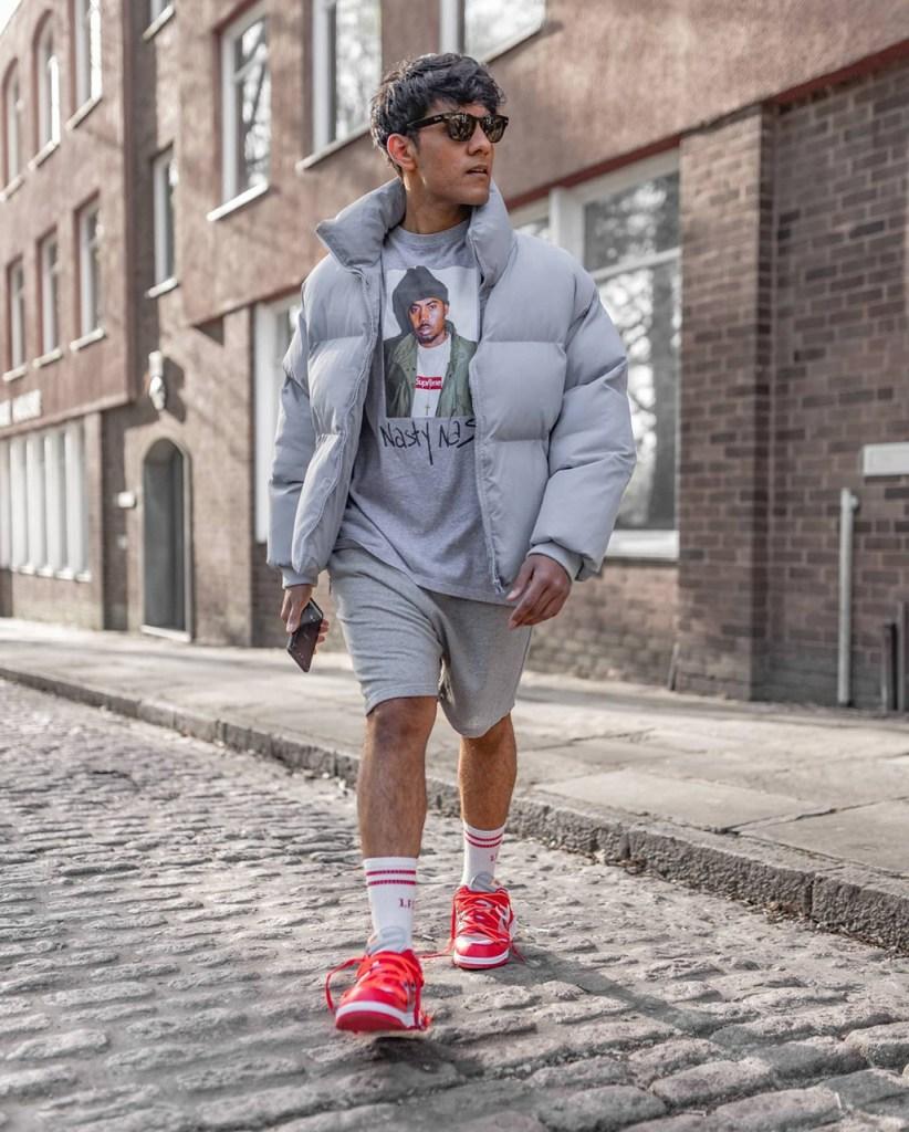 Street style: jaqueta de nylon