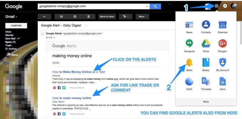 come utilizzare google alerts e trovare siti
