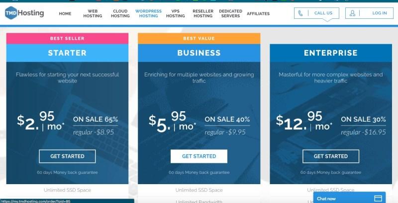 tmdhosting wordpress hosting per creare un sito wordpress