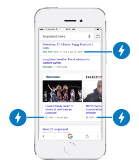 amp on mobile search