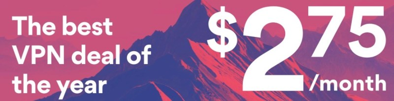 get nordvpn for 2.75 dollari a month
