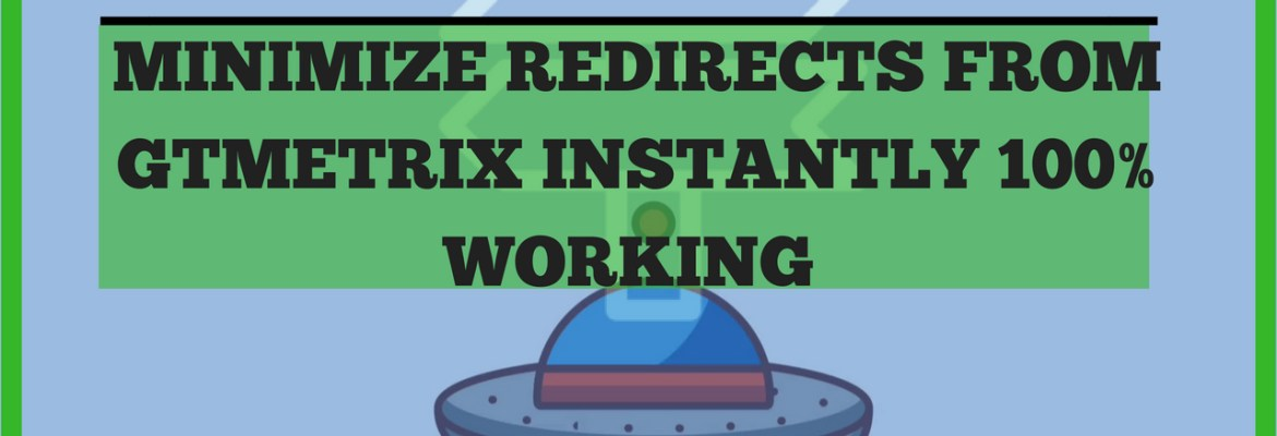 minimize redirects on gtmetrix