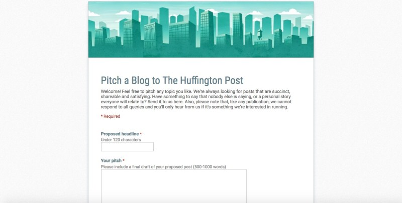 pitch a blog to huffington post
