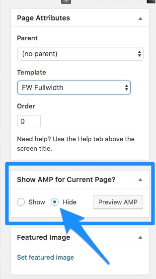 disable amp