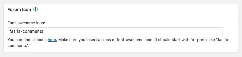 wpforo forum icone personalizzate