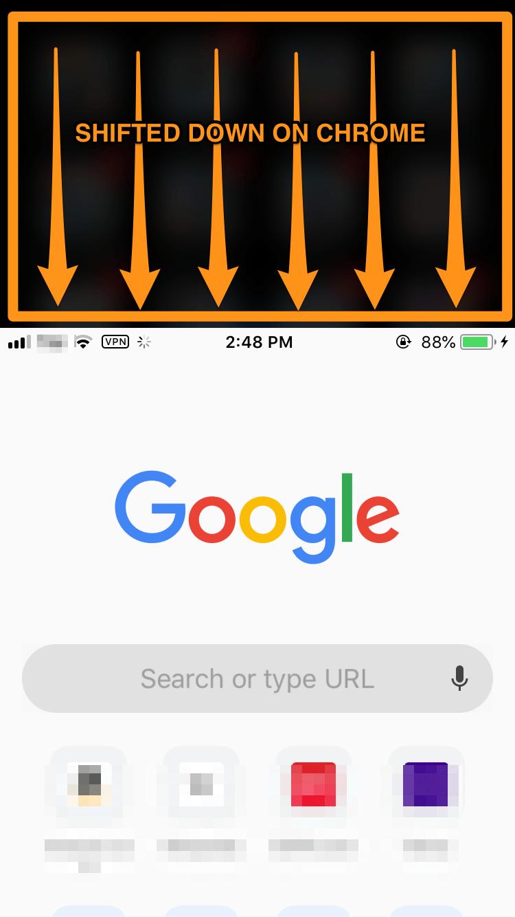 iphone reachability on chrome