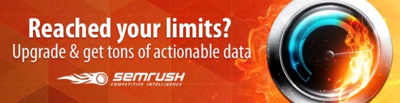 semrush ton of data