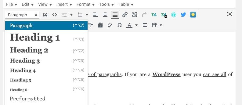 h tags on wordpress