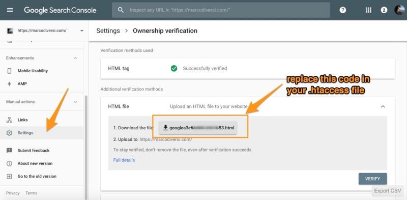 htacces verification google webmaster