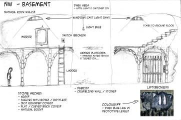 Basement NW Context Sketch - Marc