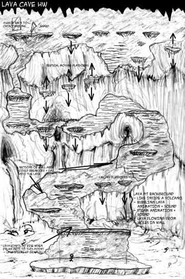 Lave Escape Context Sketch - Marc
