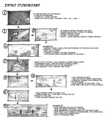 Opening Section Storyboard Mock