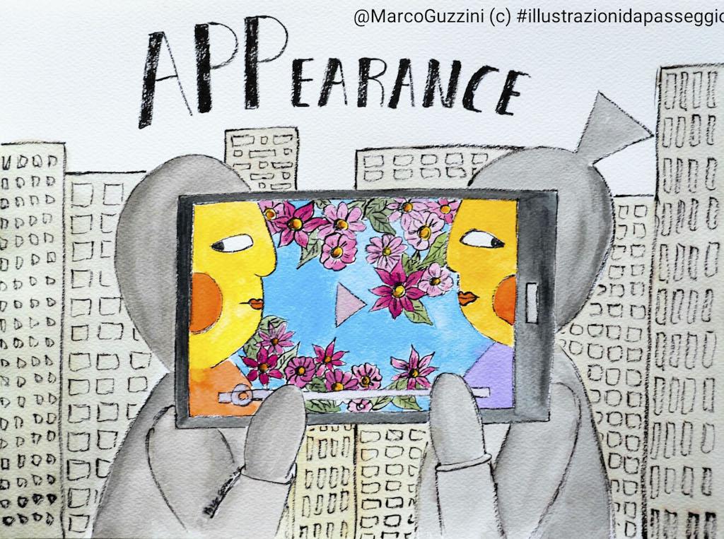 appearance illustrazione da passeggio Marco Guzzini