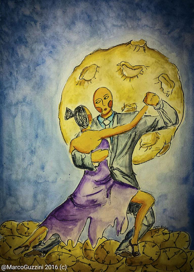 illustrazione da passeggio balliamoci