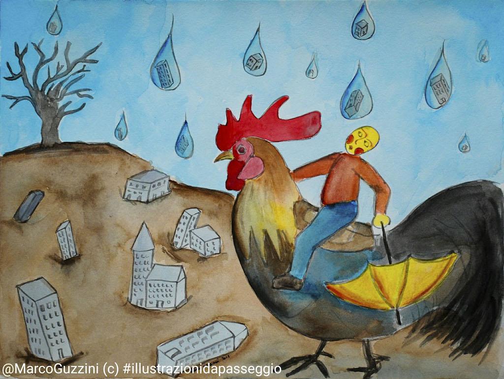 illustrazione da passeggio cosa piove brevi illustrazioni narrate