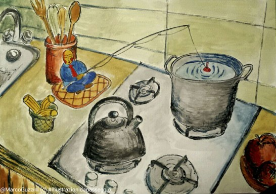 fantasia in cucina breve illustrazione narrata
