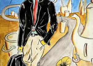 illustrazione passeggiata senza meta Sopra pensieri - piacevoli distrazioni -Brevi illustrazioni Narrate