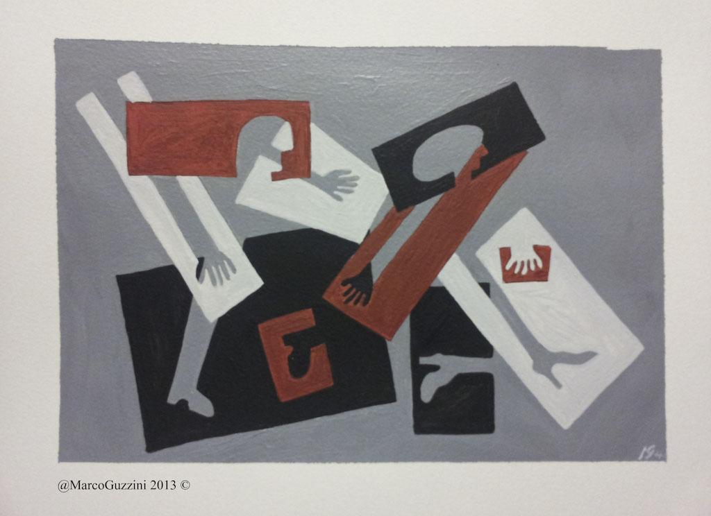 Pittura, Quadro Marco Guzzini Andiamo