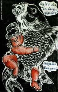 sketchbook . La Carpa gigante - Kuniyoshi