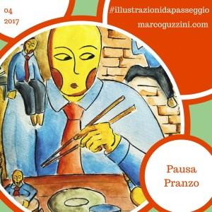 Pausa Pranzo Illustrazione da Passeggio Marco Guzzini