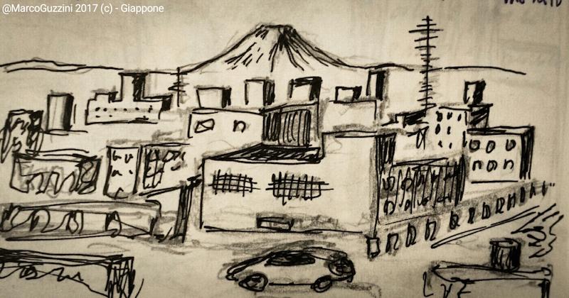 sketchbook avvistamento monte fuji