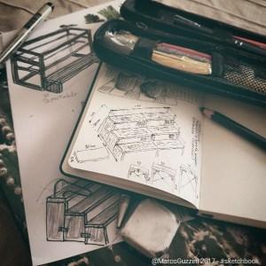 Progettare scaffali - sketchbook 2017