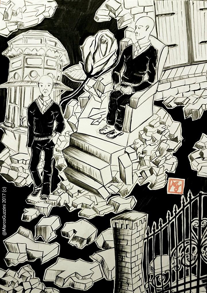illustrazione monologo Cinico Risveglio idi Marco Guzzini Inchiostro di China