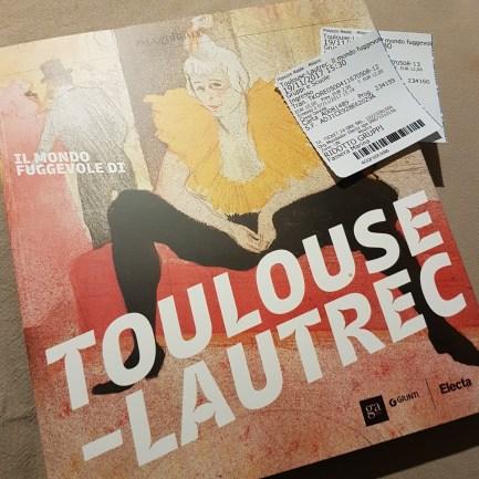foto biglietti Visita alla mostra di Toulouse Lautrec a Milano