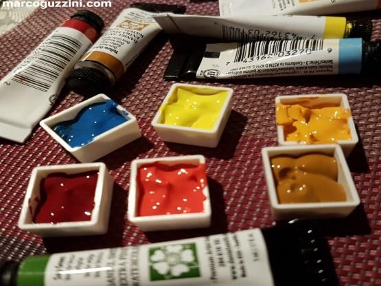 Immagine set di colori acquerello