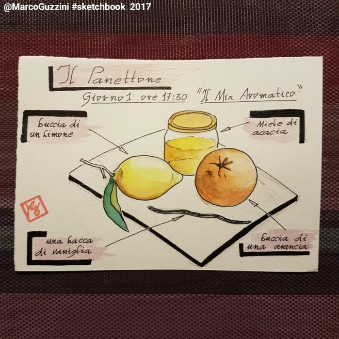 illustrazione con gli ingredienti per il mix aromatico per un panettone fatto in casa