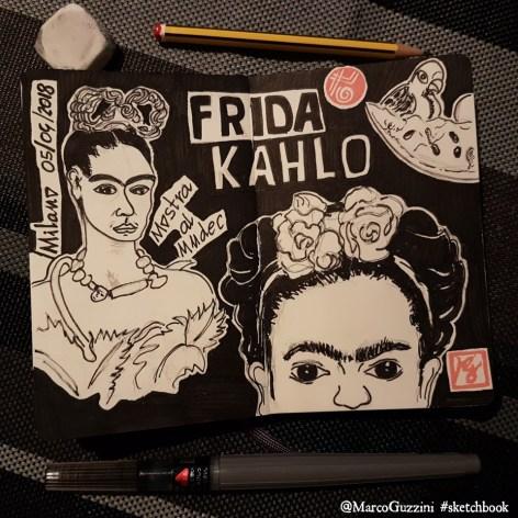 sketchbook la mia visita alla mostra di frida kahlo a milano il volto di Frida Kahlo , frida Kahlo, oltre il mito