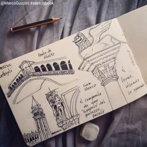 un giorno a venezia, appunti illustrati da un viaggio a Venezia , disegnare a venezia