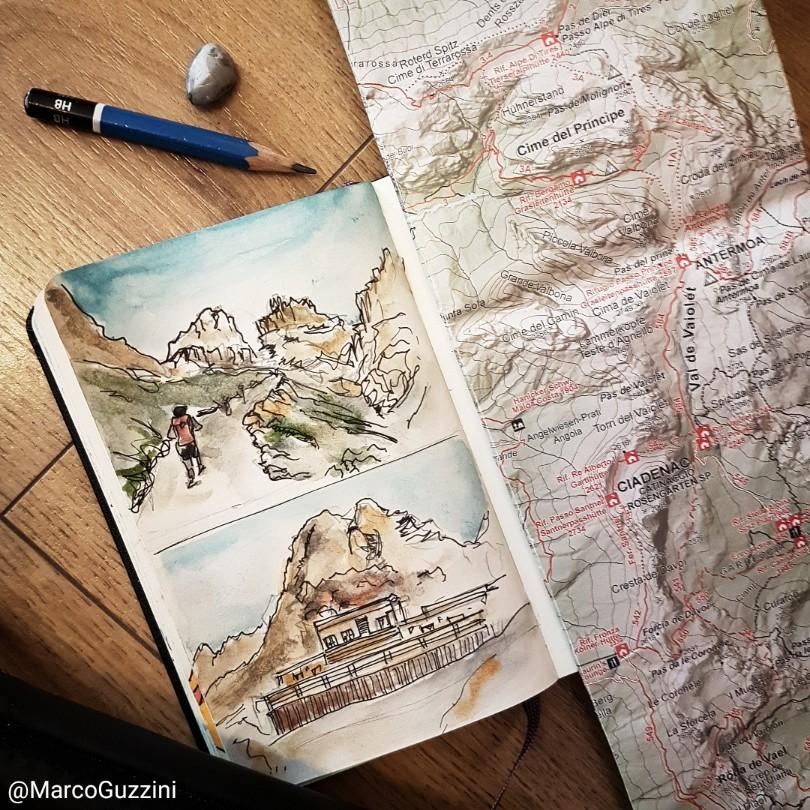 Pagine di Dolomiti rifugio principe vajolet