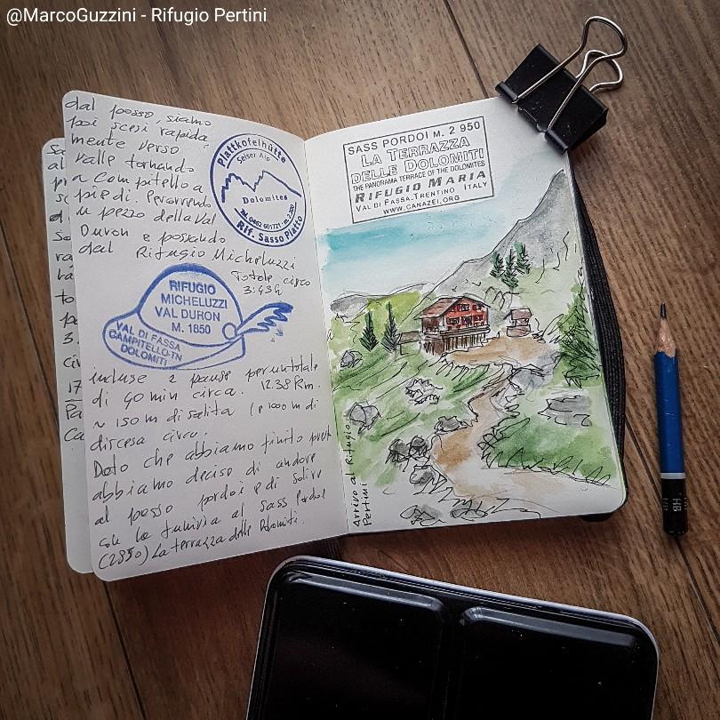 Pagine di Dolomiti rifugio pertini