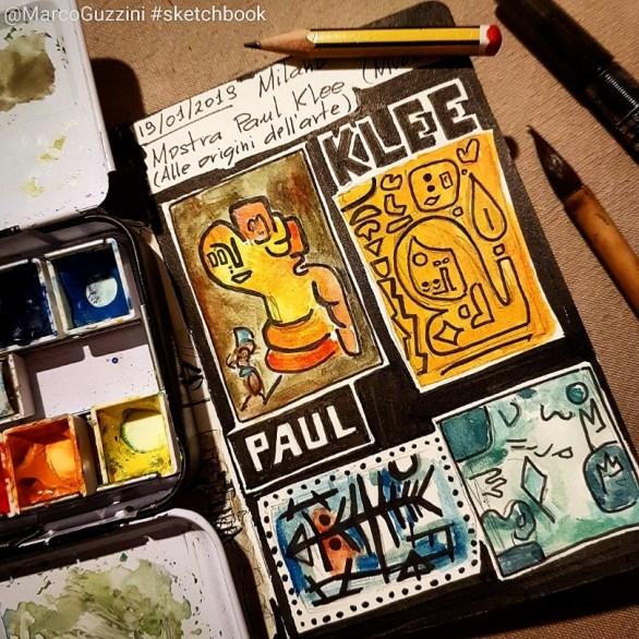 Mostre sul mio taccuino a Milano 2019 sul mio sketchbook klee
