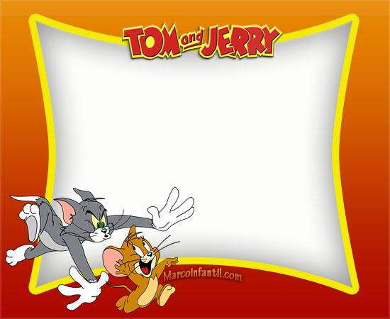 Tom Y Jerry Invitaciones Tarjetas Cumpleaños Marcos Infantiles