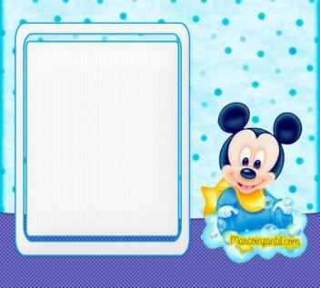 Marcos de Mickey bebe - imagenes mickey bebe - stickers mickey bebe - etiquetas mickey bebe