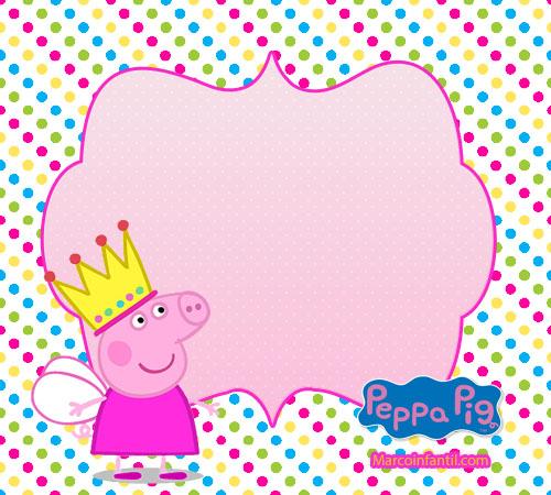 Peppa pig Corona imagenes invitaciones