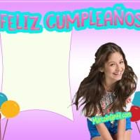 """Marcos de Soy Luna con frase """"Feliz Cumpleaños"""""""