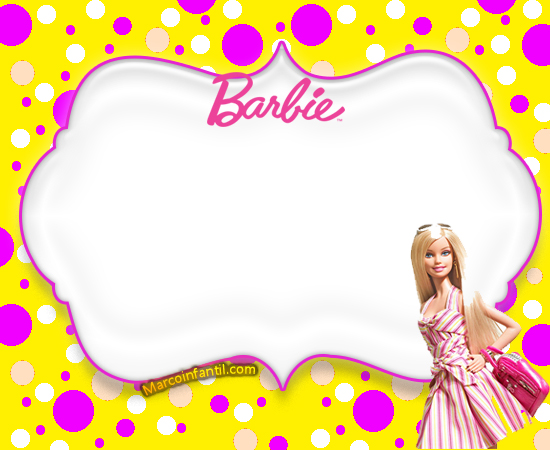 Barbie Tarjetas Marcos Infantiles