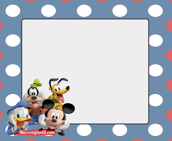 Marcos De Mickey Mouse Y Amigos Marcos Infantiles